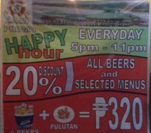 seablings Happy Hour Promo