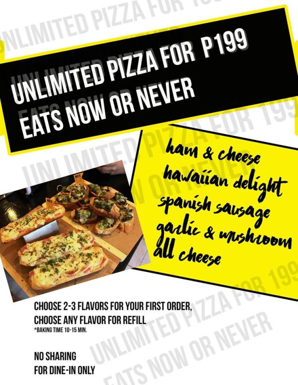 Nic's Pizza Baguettes Unli Pizza Summer Treat