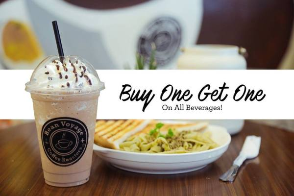 Bean Voyage Coffee Roasters buy one get one 1st anniversary promo