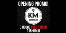 KMnetCafe opening promo