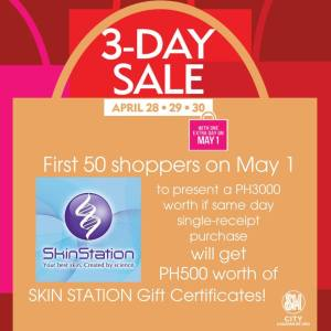 SM 3 days sale free Skin Station