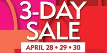 SM 3 day Sale April28 - May1