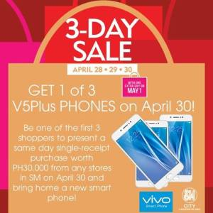 SM 3 days sale free vPlusPhone