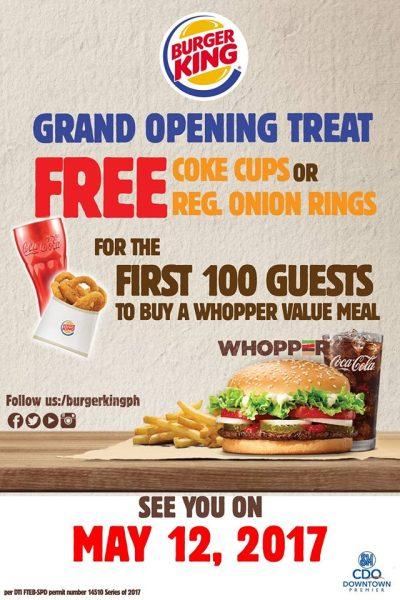 burger King SM CDO Premier Opening