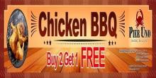 Pier Uno chicken BBQ buy 2 take1