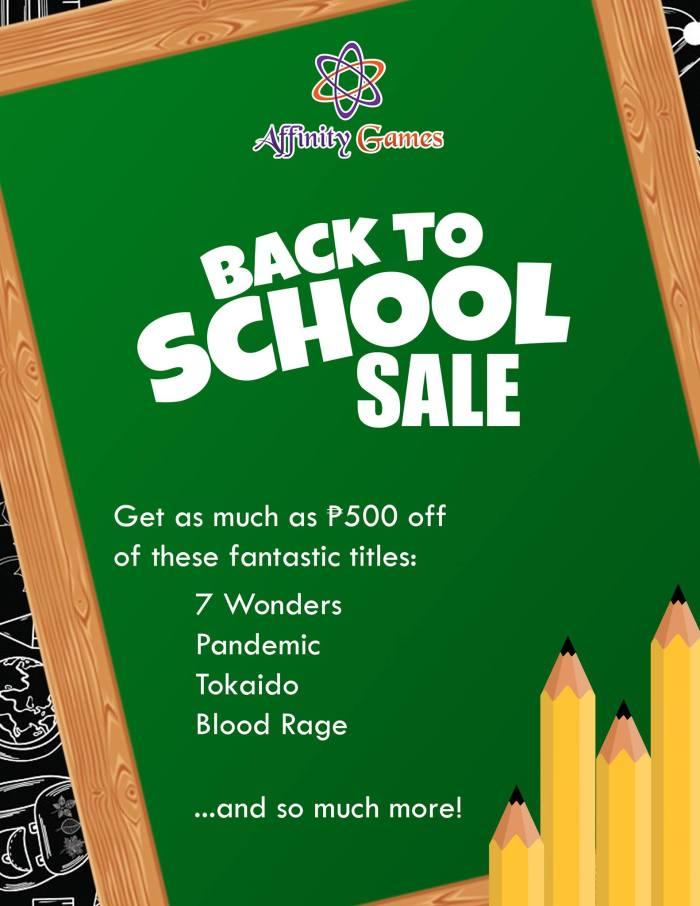 Affinity Games Back to School