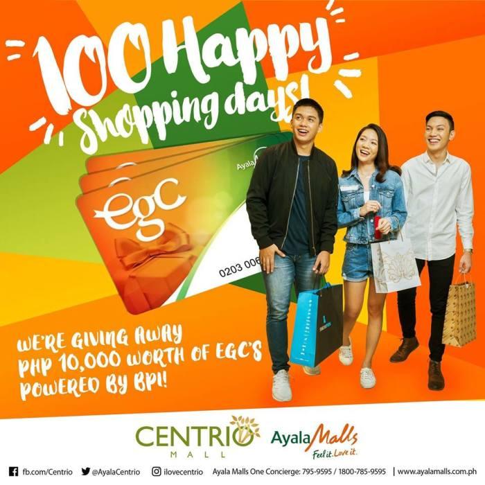 Centrio 100 shopping Days