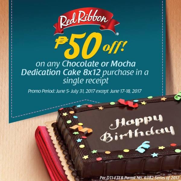 Red Ribbon dedication Cake P50 off