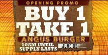 Hungry Plate Opening Promo Buy 1 Take 1 Angus Burger