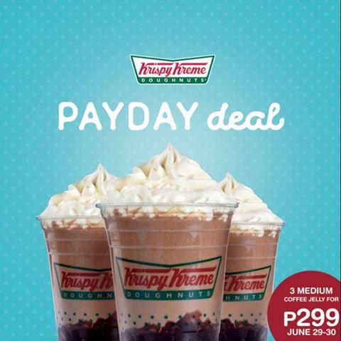 Krispy Kreme Coffee Jelly Payday Deal