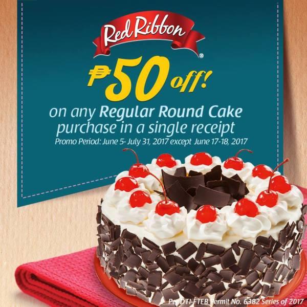 Red Ribbon round Cake P50off