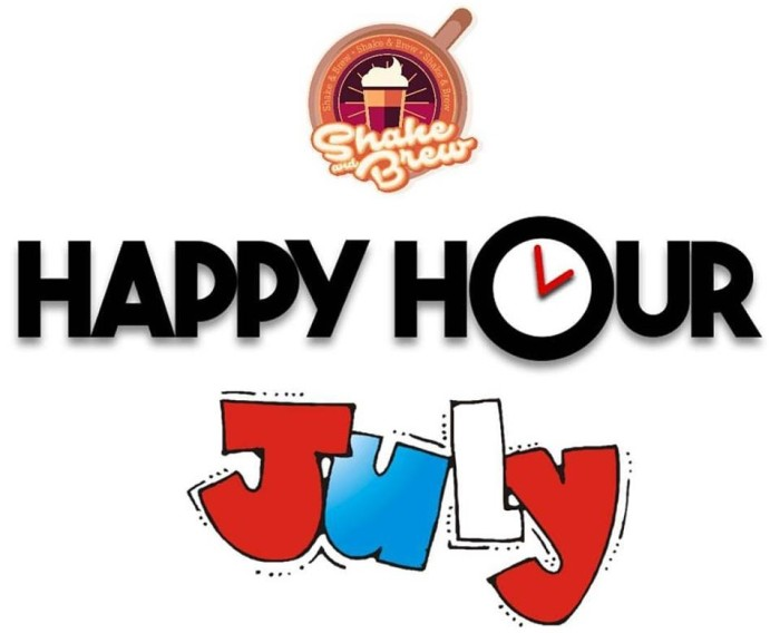 Shake and Brew Happy hour July