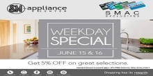 SM Appliance Weekday special