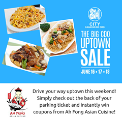 SM Big CDO Uptown Ah Fong Asian Cuisine