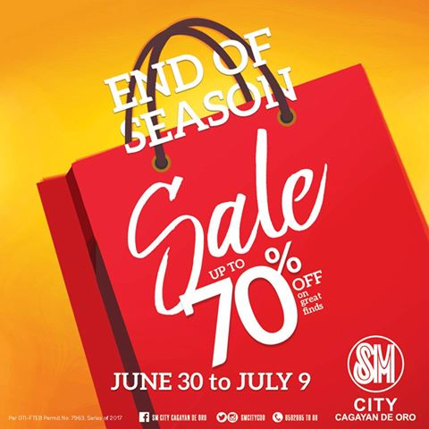 SM End of Season Sale