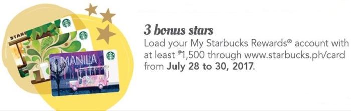 Starbucks 3 bonus Stars