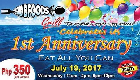BfoodsGrill 1st anniversary eat all you can seafood
