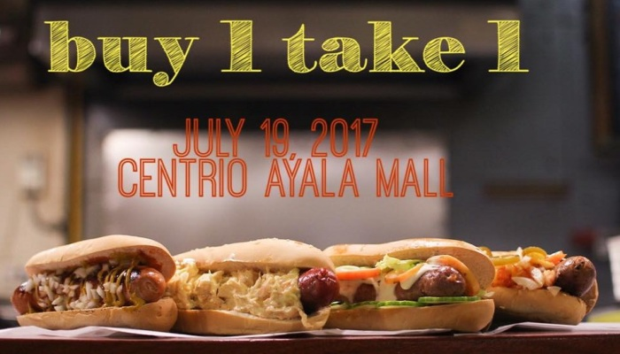 chino's Deli 4th anniversary buy 1 take 1