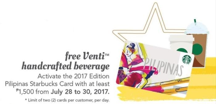Starbucks 4th Anniversary free Venti