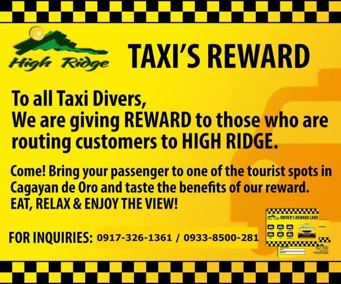 High Ridge rewards to Taxi
