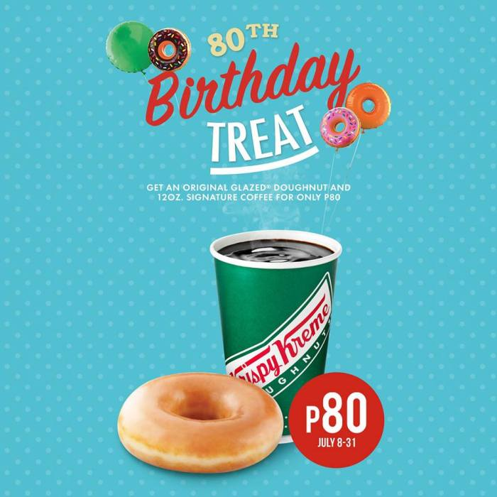 Krispy Kreme 80th Birthday Treat