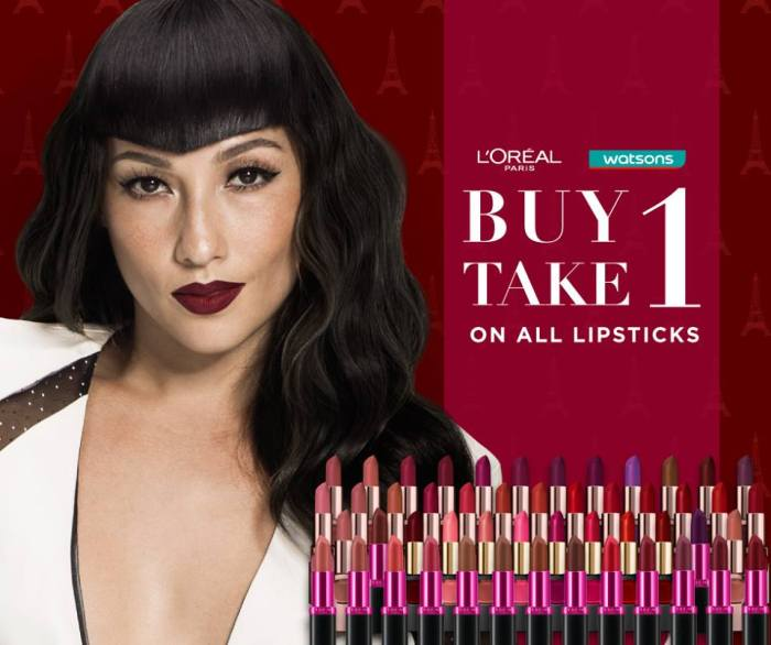 L'Oréal Paris Lipsticks Buy 1 Take 1