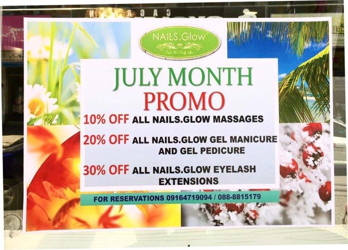 Nails.Glow cagayan de oro July Promo