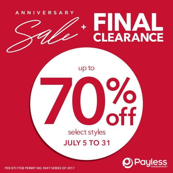 Payless Anniversary Sale