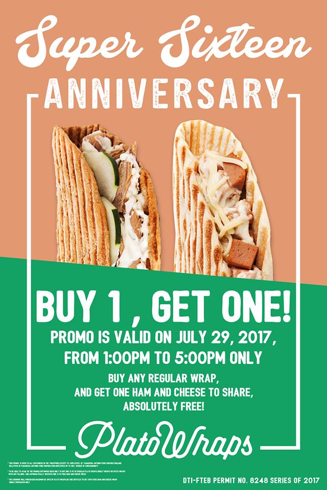 Plato Wrap 16th anniversary Buy 1 Take 1