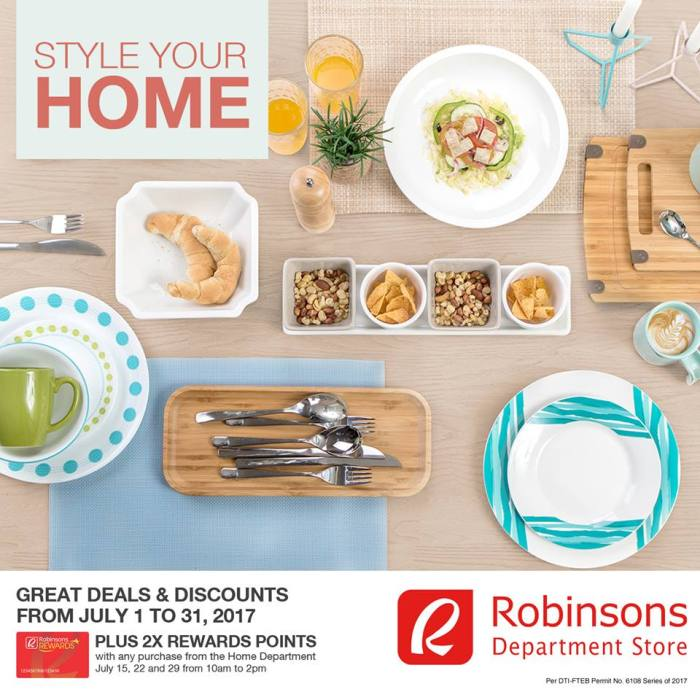 Robinsons Department Store Limketkai deals for your Home