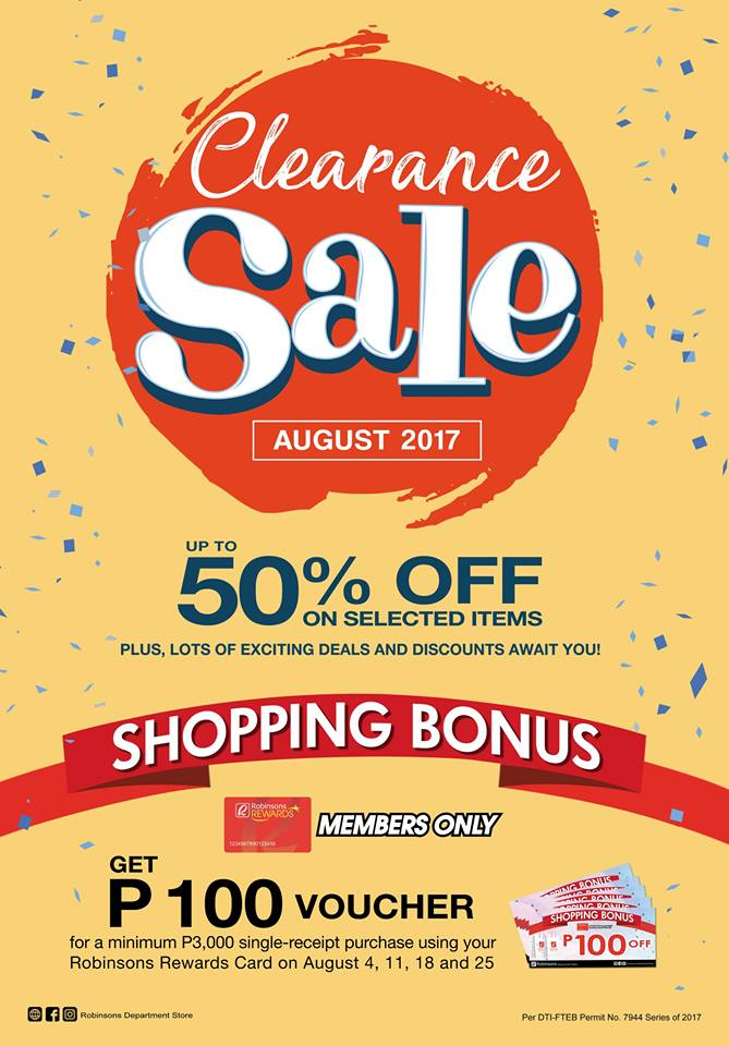 Robinsons Department Store Clearance Sale