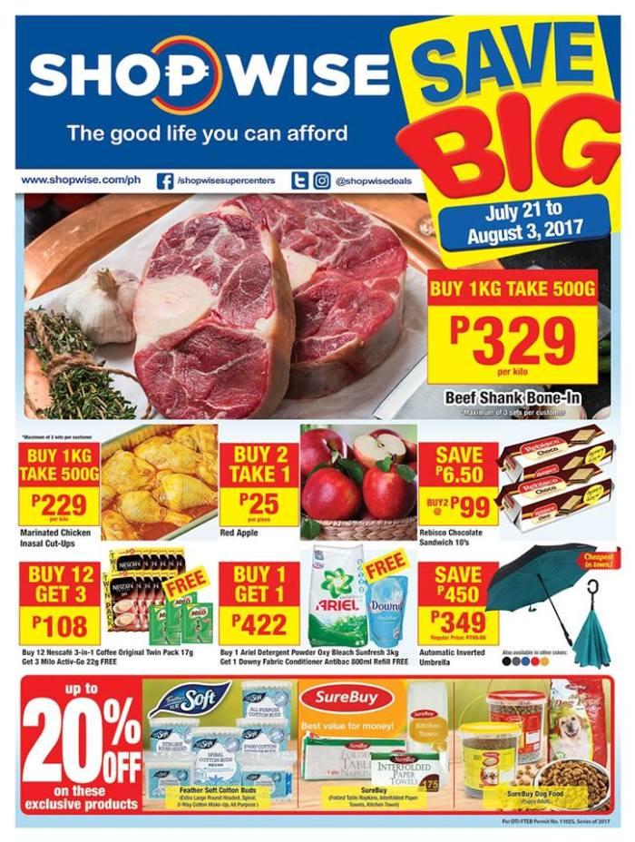 shopwise Save Big promo