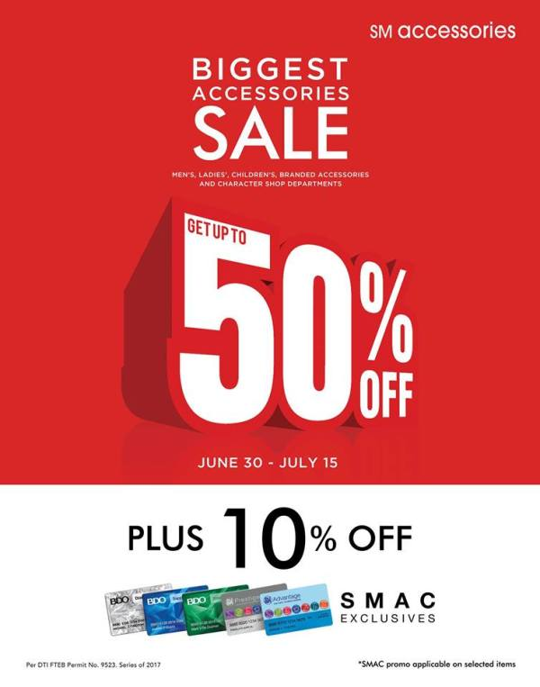 SM City Biggest Accessory Sale