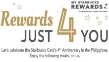 Starbucks Philippines 4th Anniversary promo