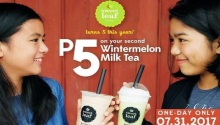 sweet leaf bubble tea 5th anniversary promo