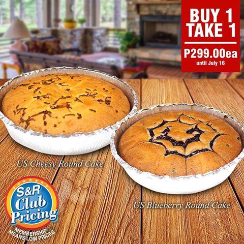 US Cheesy Round Cake or US Blueberry Round Cake