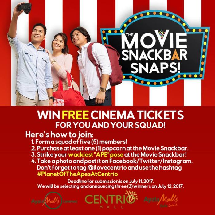 Win Cinema Tickets for you and your squad