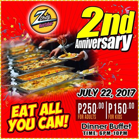 Zords 2nd Anniversary eat all you can