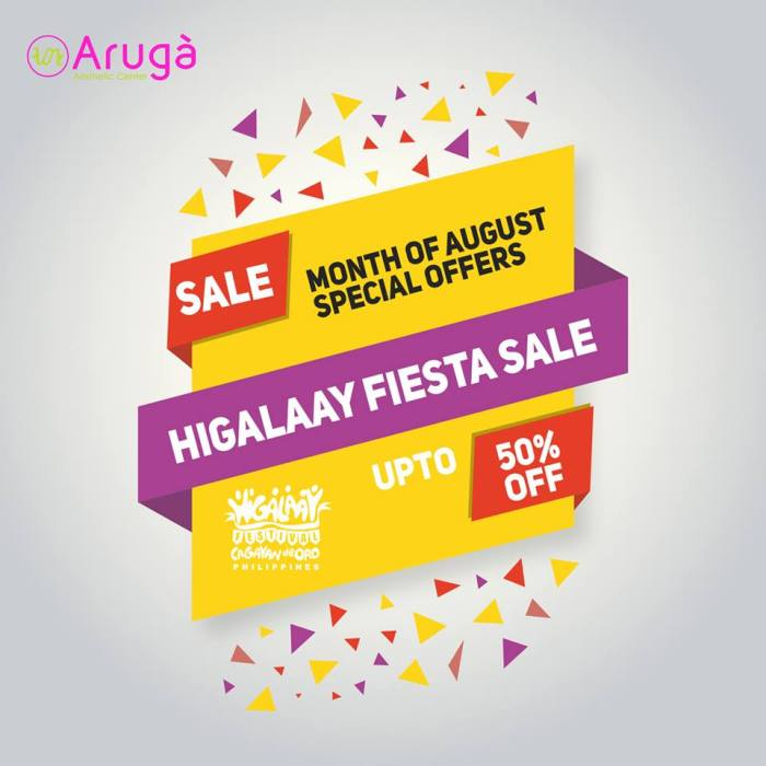 aruga aesthetic center whole month fiesta sale