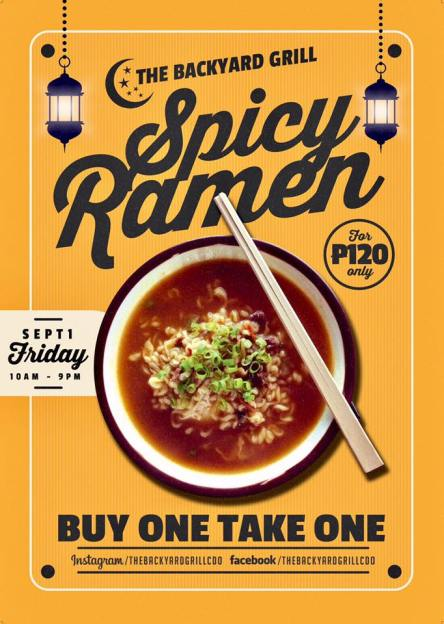 Backyard Grill Buy 1 Take 1 Spicy Ramen