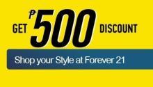 BDO forever21 P500 discount