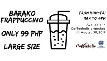 Coffeeholic large barako frappuccino at P99