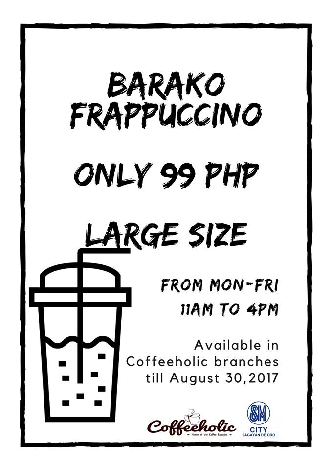 coffeeholic barako frappuccino P99