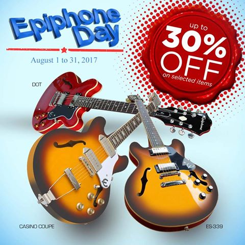 Crescendo Audio and Music Store epiphone Day