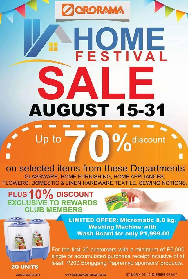 Ororama home festival sale