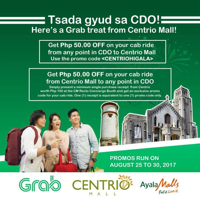 P50 off on Taxi to and from Centrio