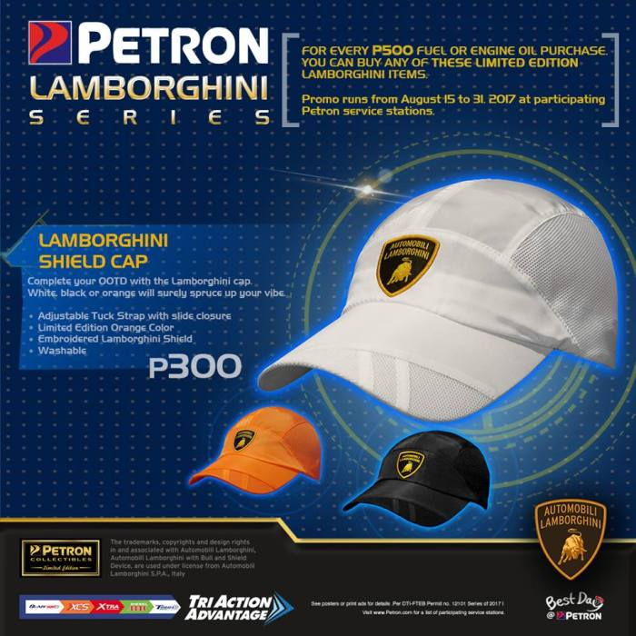 Petron Lamborghini shield cap