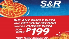 SandR 2nd pizza at P199