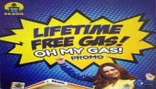 SeaOil Oh My Gas Lifetime free Gas promo