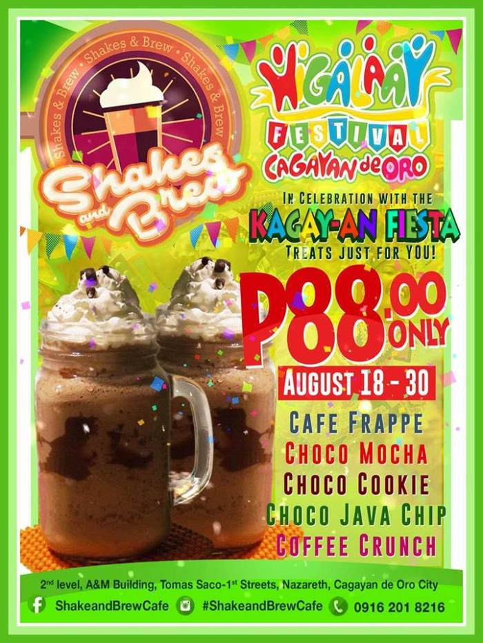Shake and Brew Cafe Kagay-an Fiesta Treat